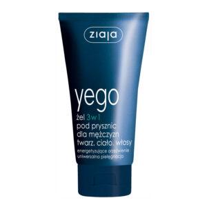 Yego гель для душу для чоловіків 3 в 1: обличчя, тіло, волосся, travel size 75 мл