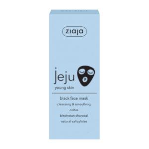 Очищуючо-розгладжуюча чорна маска для обличчя JEJU 50 мл