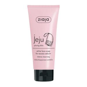 Біле мило для вмивання обличчя JEJU 75 мл